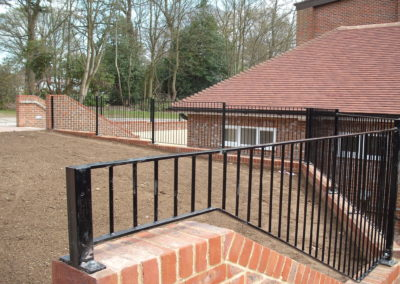 Metal railings. Adding safety and style to your property