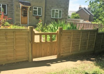 Overlap and post with garden gate