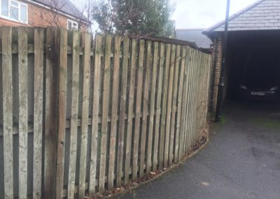 1 of 3 - fence to be replaced