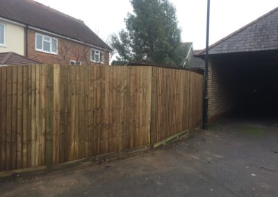 2 of 3 - replacement fence